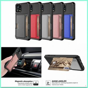 Luxury Leather Card Cover For iPhone 12 Pro Max XR XS Hybrid Silicone Case For iPhone 11 8 7 Plus