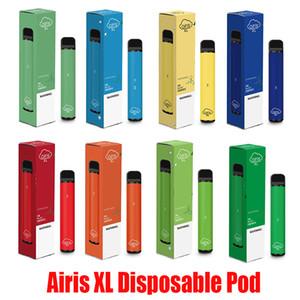 Orijinal Airis XL Tek Pod Cihazı 1200 Puff 850mAh 5ml Prefilled Taşınabilir Vape Çubuk Kalemler Bar Artı XXL Max% 100 Otantik 12 Renkler