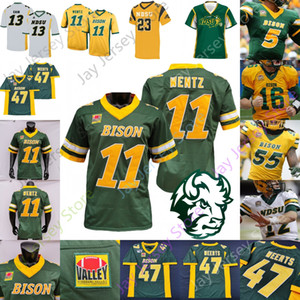 NDSU North Dakota State Bison Football Jersey NCAA College Carson Wentz Trey Lance Ty Brooks Adam Cofield Christian Watson Sproles Tuszka