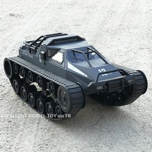 Remote Control 1:12 Crawler-type Tank& Kid Toy, High Speed 12KM H Tracked Drift Chariot, 30° Climbing, 360° Rotate, LED Lights, Gift, 2-1