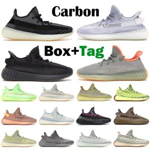 adidas Kanye West yeezy boost 350 v2 الرجال النساء احذية الجري المدربين الكربون Cinder Zebra Static Yecheil عاكس Beluga Linen Israfil رجالي أحذية رياضية خارجية