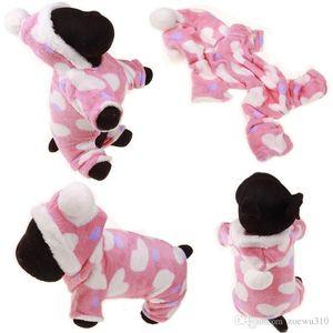Kış Pet Köpek Giysileri Moda Pet Yavru Sıcak Mercan Polar Giysi Ren geyiği Kar Tanesi Ceket Giyim Köpek Ceket Hoodies S-XXL DBC DH0984-3