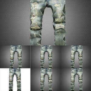 TDS Skinny Motorrad Denim Multi-Pocket Reißverschluss Slim Cargo Hosen für Männer Jeans Hip Hop Streetwear Swag Männer Kind Blau