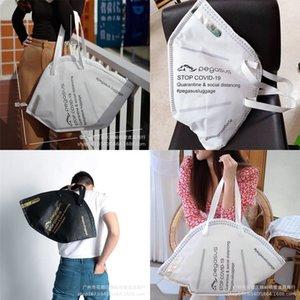 y8dsv Utilizzabile Shopping amichevole borsa tracolla maschera Pratica modellazione riporre cc sacchetto di drogheria di nylon Grande Reticule Portable