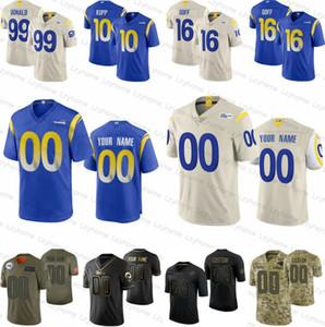 Personalizado Homens Mulheres Los AngelesramJuventude 99 Aaron Donald 10 Cooper Kupp 16 Jared Goff Jalen Ramsey 17 Robert Woods Johnson III Jersey