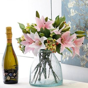1 Branch of high quality hand-made perfume lily single bouquet For wedding home photography decoration artificial fake flower