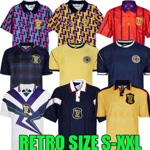 1982 1986 1988 1988 1991 1993 1998 1988 1989 1989 World Cup Final Scotland Retro Soccer Jersey 91 93 95 96 98 Camicia da calcio per il tempo libero vintage classico