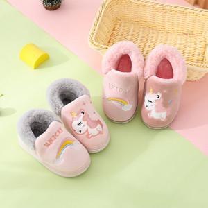 Kocotree Winter-Kinder Hausschuhe Kinder Unicorn Anti-Rutsch-Soft-Girls Home Schuhe Kinder-Jungen-Karikatur Hausschuhe Innenfußboden Schuhe C1008
