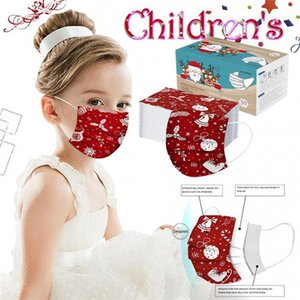 Christmas Child Party Disposable Face Masks High Quality Non-woven Cartoon Face Mask 3Ply Earhook Bandage Dust-proof Masque Cover