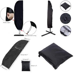 Tampa de guarda-chuva impermeável Cantilever Parasol Guarda-chuvas do mercado ao ar livre cobertura com zipper água resistente à água Acessórios de capa escura 136 N2