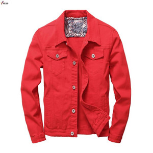 Men's Casual Jean Jacket Slim Men Fits Denim Jacket Solid Male Cotton Coat Men Cowboy Fashion Brand Clothing Sudaderas Mujer 3XL