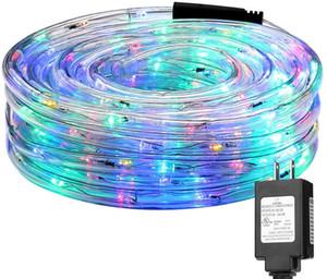 LED-Seilbeleuchtung 8 Modi-LED-wasserdichte Regenbogen-Röhre-Seil-LED-Streifen Weihnachtslicht im Freien Urlaub Dekoration Lichter IP65