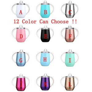Wholesale Sippy Cup 10oz Pacifier Baby Bottle With Handle Stainless Steel Tumbler Insulated Water Bottle For Kids Drinkware