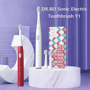 Dr.Bei sonoro escova de dentes elétrica y1 Recarregável 3 modelos à prova d'água Dentes de limpeza oral automática com 2 cabeças de escova