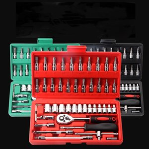 2021 new Auto repair tool set 46-piece manual hardware tool set mechanical repair socket wrench auto maintenance tool