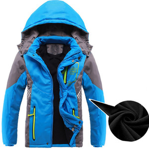 Children Outerwear Warm Coat Sporty Kids Clothes Waterproof Windproof Thicken Boys Girls Cotton-padded Jackets Autumn and Winter LJ200819