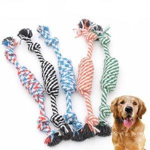Cotton Rope Knot Pet Chew Toy Bite Resistant Braided Bone Ropes 26cm Durable Puppy Clean Teeth Molar Biting Toys Random Color
