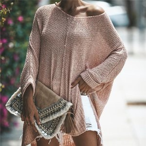 Effortless Chic Warm Pink Women Sweaters and Pullovers Casual One Size Autumn Spring Oversized Knitted Female Tops Long Jumpers