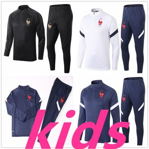 20 21 Kids Football Training Suit Soccer Trippuit 2020 2021 Kids Football Tracksuit Survetement Foot Equipe de France Chandal الركض