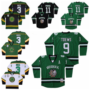 College North Dakota Fighting Sioux Jersey 9 Jonathan Toews 11 Zach Parise Hockey Ross The BOSS Rhea 3 ST John's Shamrocks Green Black