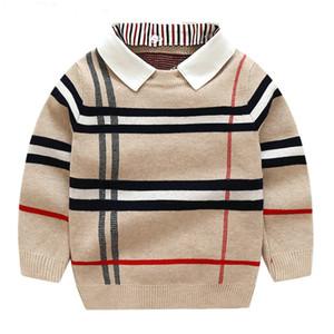Niños niños Sweatershirt Autumn Invierno Suéter abrigo Chaqueta para Toaddle Baby Boy Suéter 2-7 años Ropa de Niños