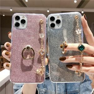 Silicone Diamond Luxury Bracelet Lanyard Phone Case For iPhone 4 5 6 7 8 4S 5S 5C 5SE 6S Plus 11 12 Mini X XS XR Pro Max Cover