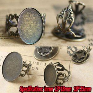 10pcs Wholesale Bronze Filigree Ring Blank Jewelry With Inner 1318 1825mm Teeth Edge Cameo Setting Cabochons Tray H wmttJN
