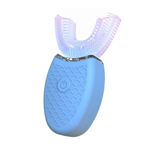 Brosse à dents sonique chargement automatique des adultes en forme de U électrique instrument dentaire vibration étanche silicone accolades instrument de blanchiment paresseux