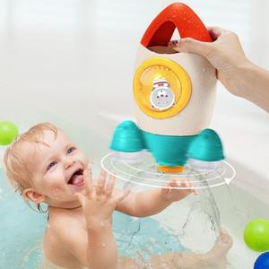 Bath Toy Water Spray Bathroom Set baby bathtubs Shower Play Swimming Water Clockwork Summer Toys for Children Toddler Kids Baby 201226