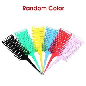 Tintura per capelli Pettine 3-way Sezione di sezione Highlight Pettine Professionale Tessitura Tessitura Pettine per capelli Dye Styling Tool per il salone Uso W9047