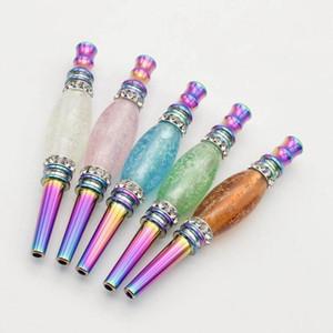 Abnehmbare leuchtende hukahn mundstück rauchen rohrkopf arabisch shisha regenbogen metall tropf spitze nacht glühende stecker zubehör