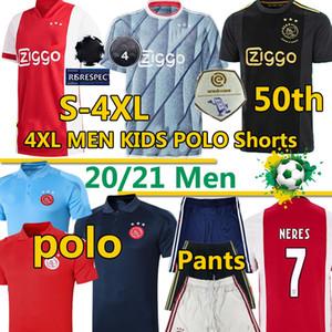 2020 21 Amsterdam FC أجاكس كرة القدم 4xl الفانيلة تاديك الأعمى البروسيات neres كرويف الرجال الاطفال بولو السراويل 50th قمصان كرة القدم الزي الرسمي