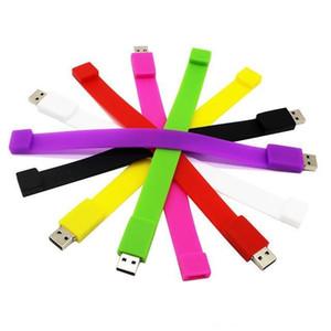 4G 8G 16G 32G 64G의 USB 2.0 USB 플래시 드라이브 Pendrive pendrive 뜨거운 도매 창조적 인 10 색 팔찌