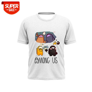 2021New Style Pure Cotton Fashion Comfortable Among Us Embossed T-shirt Cartoon Pattern Women And Men Cartoon AnimT-shirt #jN3h