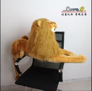 35'' Giant Big Lying Lion Simulation Stuffed Animals Plush Soft Toys Doll Gift