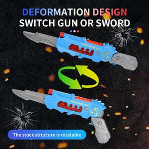 arma de deformación, diseño telescópico, el juego interactivo multi-jugador, luz y sonido, suave bala, niños que trae diferentes experie