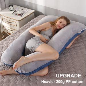 Upgrade Heavier Full Body Pillow for Pregnant Women U Shape Pregnancy Pillow Sleeping Support Maternity Pillow for Side Sleepers 201102