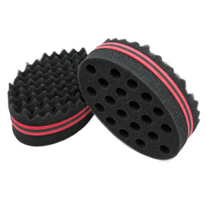 US-amerikanische Lager Doppelwelle Magische Haare Twist Schwamm Dreads Twisting Locks Dreadlocks Curl Pinsel Schwamm Twist Coil Wave Barber Tool