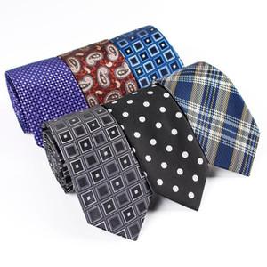 7cm Paisley Floral Jacquard Neck Ties for Men Wedding Business Suits Skinny Tie Men Necktie Gravatas Custom Logo