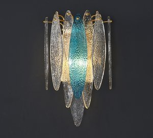 new modern bedroom glass wall sconce  wall light fixtures bedside living room LED wall lamps for bedroom