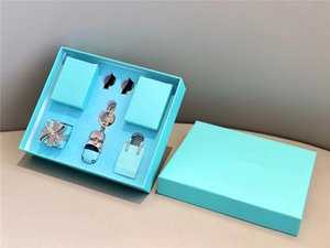 1 Sets Fragrance Key Chain Gift Box Lake Blue Automobile Beroom Air Conditioner Fragrances Ornament With Aroma Cards