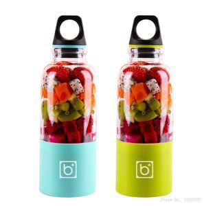 500ML Mini Portable Electric Fruit Juicer Blender USB Rechargeable Smoothie Maker Machine Sports Bottle Juicing Cup