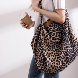 Bolsos de hombro del leopardo de la manera Patern Mabula de gran tamaño otoño bolsas de gran capacidad Bolso de compras reutilizable Eco friendly bolso