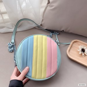 crossbody bag shoulder bag Handbag Letters Wristlet Round Cakes Banquet TotesGenuine Leather Women Clutch Messenger Bag Purse