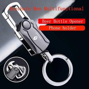 Mode Laser voiture porte-clés en métal Bouteille de bière multifonctions Porte ouvreur porte-clés pour Renault Laguna Clio 4 Duster