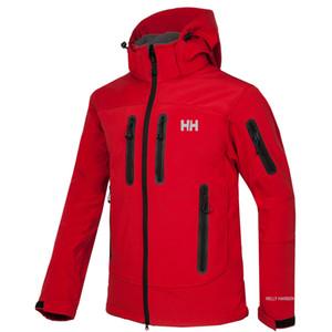 2020 New A Mens Jackets Hoodies Moda Casual quente Windproof cara Ski Coats Ar Livre velo de Denali Casacos Ternos S-XXL RED