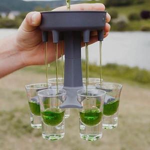 6 Shot Glass Dispenser Держатель Держатель Партия Партия Подарки Питьевые игры Снятые очки Получить вечеринку Начало Caddy Dispenser