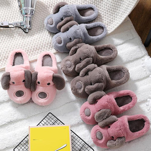 Тапочки меха женщины 2021 зимний дом обувь плюшевые теплые женские для крытая квартира с размером 4,5-12 Главная Товары