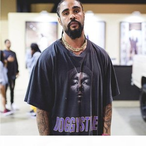 20SS Fashion DOGG Style Rapper Portrait Printed Tee Retro Street Cotton Short Sleeve Men And Women Couple Summer Vintage T-shirt HFXHTX325
