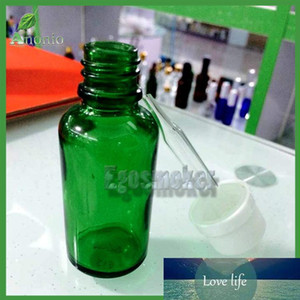 800pcs Green 30ml Glass Dropper Bottles With Black Rubber Bulb Dropper Essential Oil Glass Bottle Cosmetics Packing 5ml 10ml 15ml 50ml